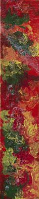 Wirbelwind - Acryl auf Leinwand, 20x100 cm, 2017, M. Weber