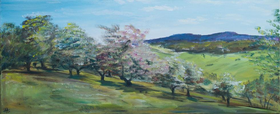 Weites Land - Acryl auf Leinwand, 145x60, 2017, H. Halbritter - VERKAUFT