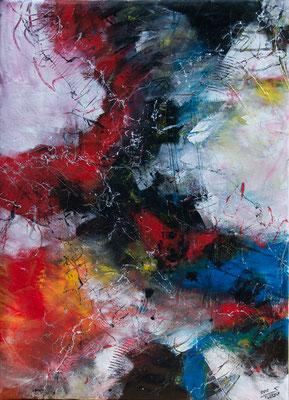 Island - Acryl auf Leinwand, 62x86 cm, 2018, S. Ulrich - VERKAUFT