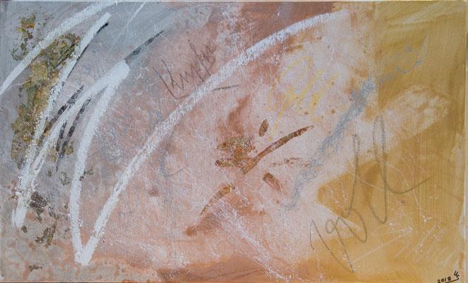 Wertvoll - Acryl auf Leinwand, 65x40, 2018, U. Schachner