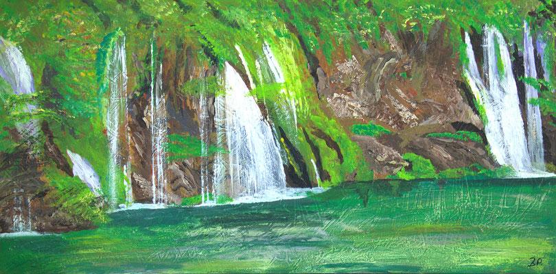 Grüne Oase - Acryl auf Leinwand, 100x50 cm, 2015 - P. Brodaric - VERKAUFT!