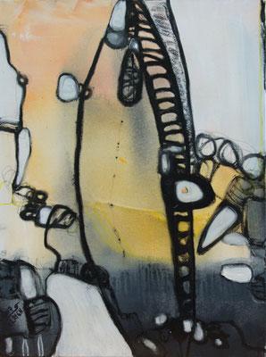 Bridge into the Sky - Acryl auf Leinwand, 60x80 cm, 2017, S. Ulrich