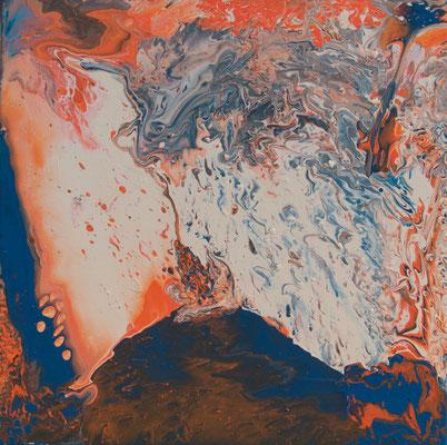 Vulkan - Fluid Painting, 60x60 cm, 2017, M. Weber