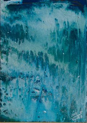Ice Land II - Acryl auf Holz, 21x30 cm, 2018, S. Ulrich