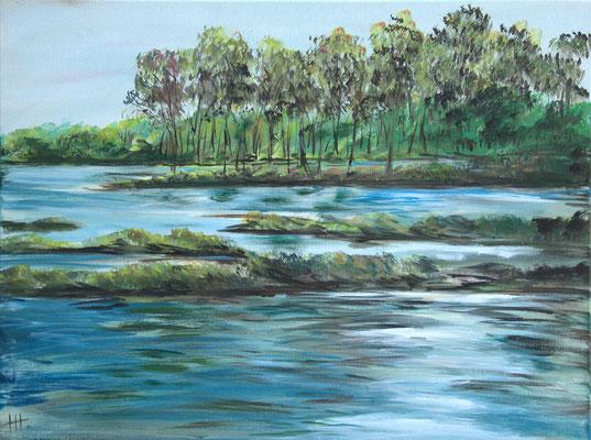 Riverside - Acryl auf Leinwand, 80x60 cm, 2015 - H. Halbritter - VERKAUFT!