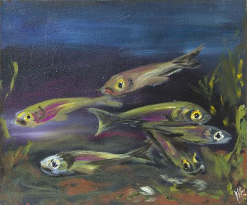 gemeinsam - Acryl auf Leinwand, 60x50 cm, 2016 - H. Halbritter - VERKAUFT!