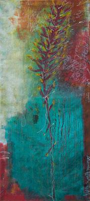 Dschungel II - Acryl auf Leinwand, 155x70 cm, 2014 - S. Ulrich - VERKAUFT!