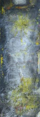 Yellow - Acryl auf Leinwand, 40x120 cm, 2014/15 - S. Ulrich - VERKAUFT!
