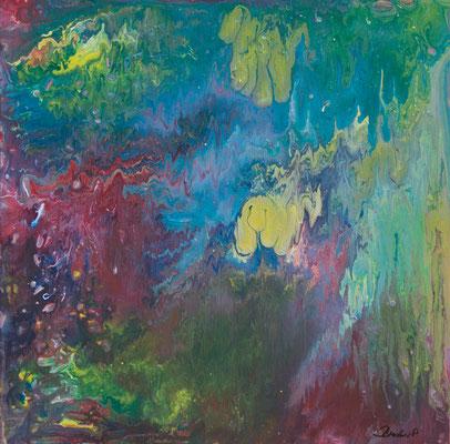 Schweben - Fluid Painting, 50x50 cm, 2017, P. Brodaric