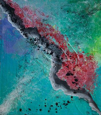 Bruchlinie - Acryl auf Leinwand, 60x68 cm, 2018, Perica Brodaric