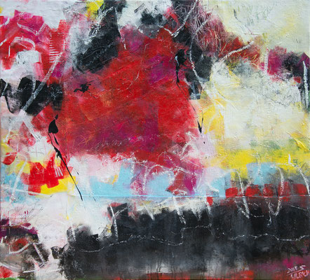 Mexiko - Acryl auf Leinwand, 132x120 cm, 2018, S. Ulrich