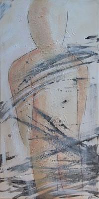 Shades of grey - Acryl auf Leinwand, 40x80 cm, 2018, U. Schachner - VERKAUFT!