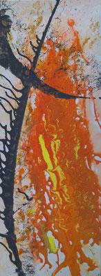 Feuerschwert - Acryl auf Leinwand, 30x80 cm, 2012/15 - U. Schachner - VERKAUFT!