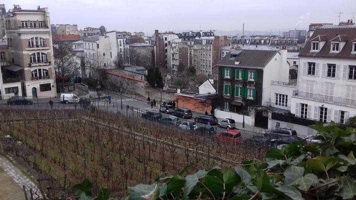 18 février 2017 (vue depuis les jardins du Musée de Montmartre)