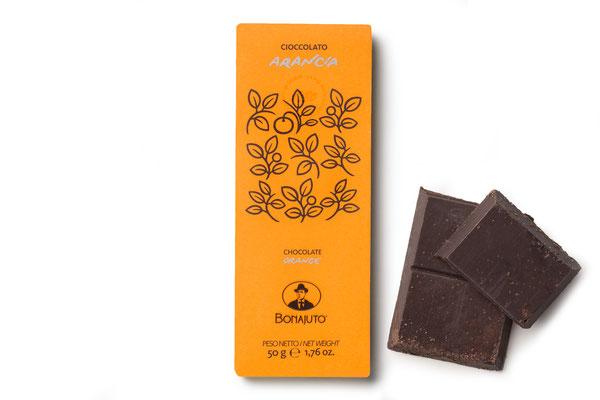 ORANGE FLAVOR MODICA CHOCOLATE (50gr)