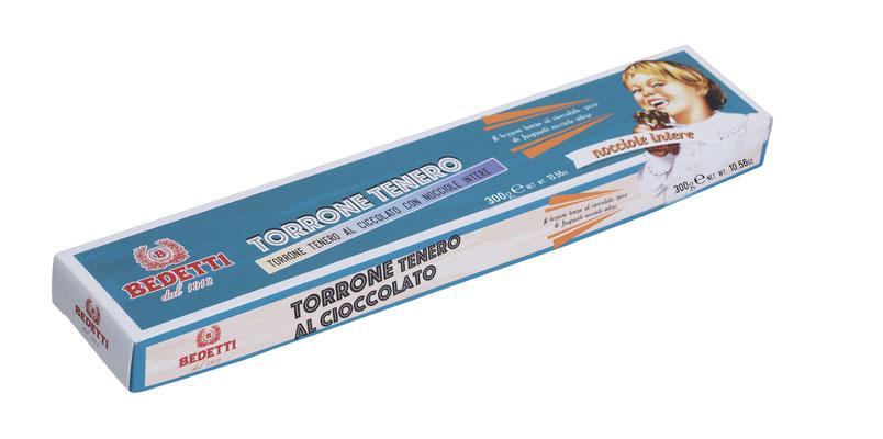 SOFT CHOCOLATE NOUGAT WITH HAZELNUTS - BOXED (100g)