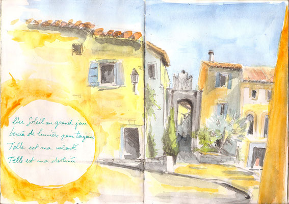 severine saint-maurice, lescerclesdelumiere.com, aquarelle de severine saint-maurice,bages