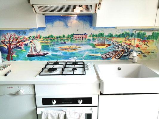 credence cuisine, commande fresque, fresque, bords de loire, severine saint-maurice, lescerclesdelumiere