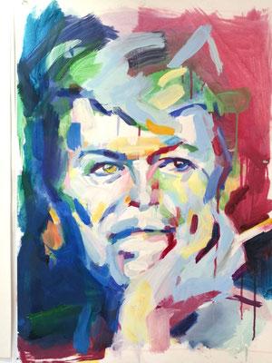 david bowie, commande de portraits, severine saint-maurice, lescerclesdelumiere, peinture à l'huile