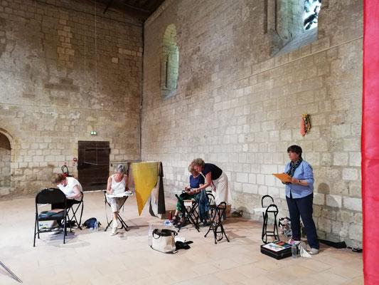 prieuré saint-cosme, severine saint-maurice, les cercles de lumiere, cours de peinture tours, cours de dessin tours, cours aquarelle tours