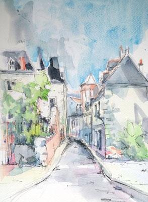 severine saint-maurice, lescerclesdelumiere.com, aquarelle de severine saint-maurice, tours, croquis urbain