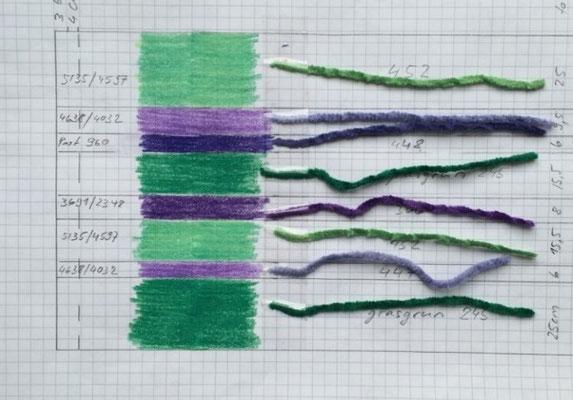 Farbverteilung und Berechnung