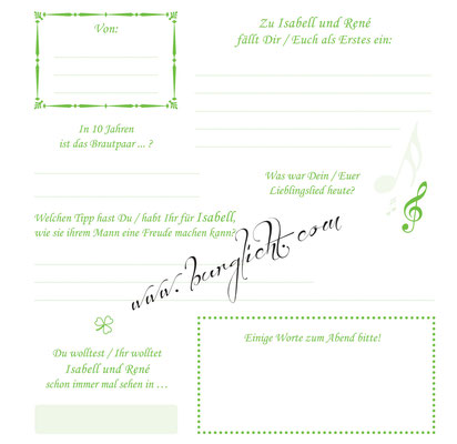 Steckbriefe mit Gästefragen zu jedem Anlass