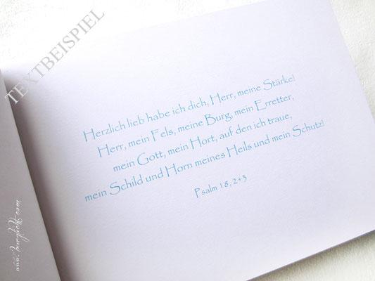 Druck Seite 1 im Taufbuch Taufspruch