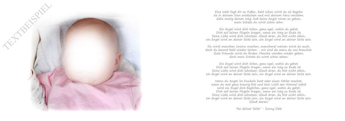 Gästebuch Taufe Mädchen Druck Foto und Widmung Eltern