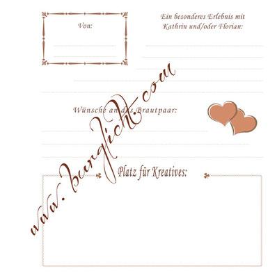 Steckbrief für ein Gästebuch zur Hochzeit