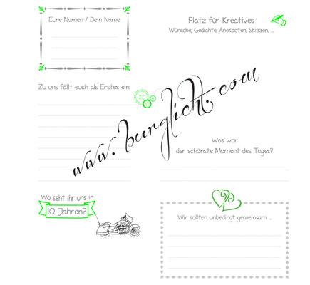 Unterhaltsamer Steckbrief mit Fragen und Grafiken nach Ihren Vorstellungen