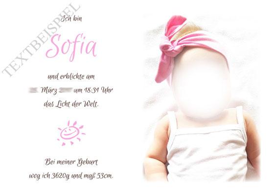 Foto Gästebuch Taufe Mädchen Druck Foto und persönliche Daten Täufling