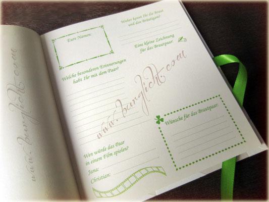 Steckbrief mit Gästefragen - zu jedem Anlass, gebunden zum Buch.