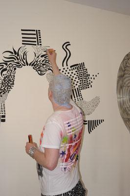 ... DoodleART mit Haarfärbung bei St.Pauli Blond