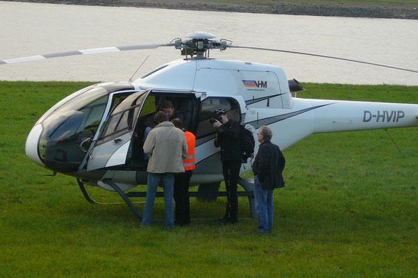 ... Werbefotografie mit Helikopter Einsatz