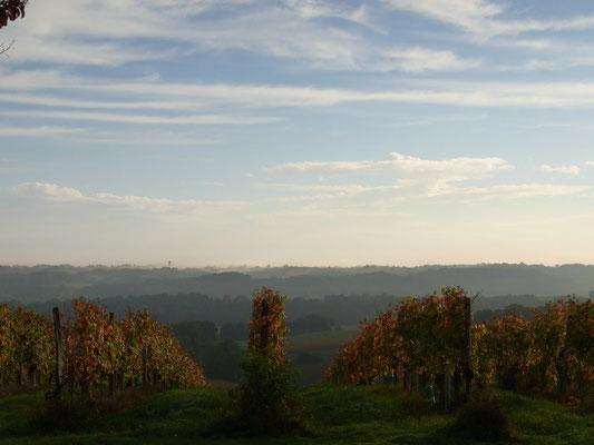 ピレネー山脈が水墨画のように美しく見えます