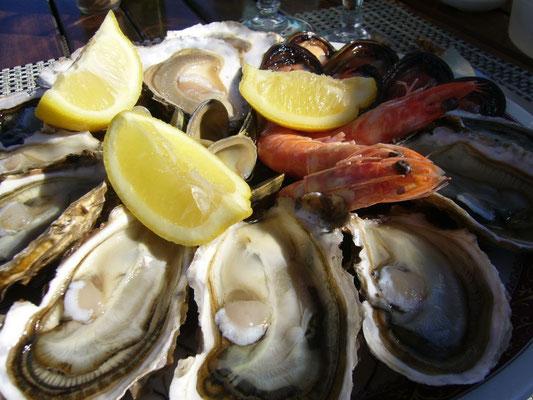 現地ブズィグの牡蠣との相性は抜群