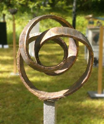 """""""Großer Knoten"""" Bronze Höhe 40 cm"""