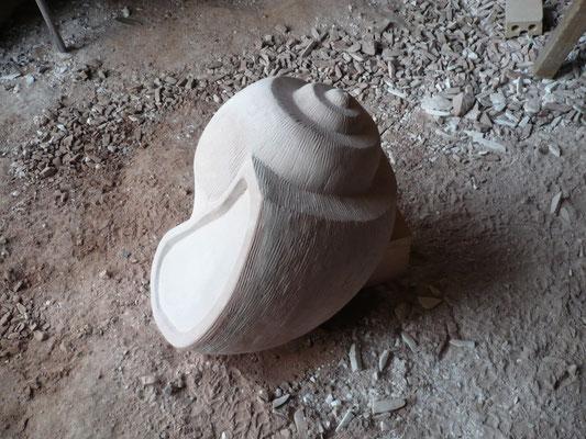"""""""Schnecke"""" Sandstein 50 cm"""