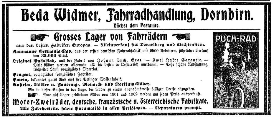 Quelle: Vorarlberger Volksfreund 28. März 1903