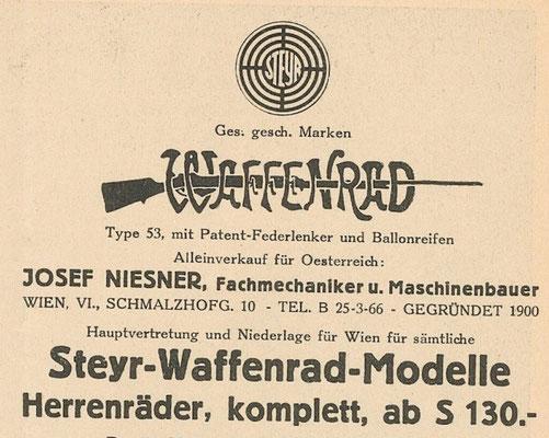 Quelle: Österr. Nationalbibliothek, Der Radfahrer, 15. April 1932