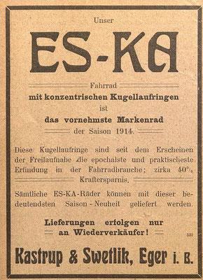 Quelle: Österr. Nationalbibliothek, Österreichische Fahrrad- und Automobil-Zeitung, 15. Juli 1914