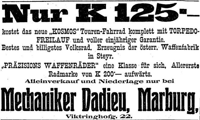 Quelle: Österr. Nationalbibliothek, Marburger Zeitung, 17. August 1912