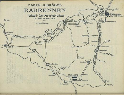 Quelle: Österr. Nationalbibliothek, Radfahrer-Zeitung, 12. September, 1908.