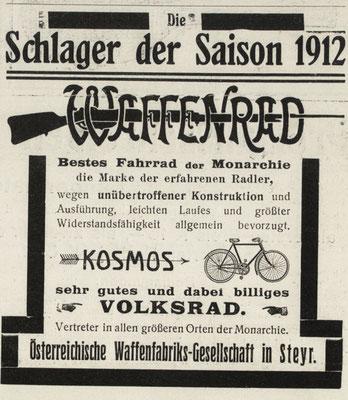 Quelle: Österr. Nationalbibliothek, Illustriertes Sportblatt, 4. Mai 1912
