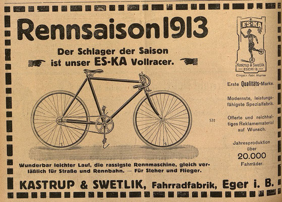 Quelle: Österr. Nationalbibliothek, Österreichische Fahrrad- und Automobil-Zeitung, So, 15. Juni 1913