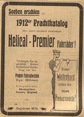 Österreichische Nationalbibliothek, Österr. Fahrrad- und Automobil-Zeitung, 15. Januar 1912