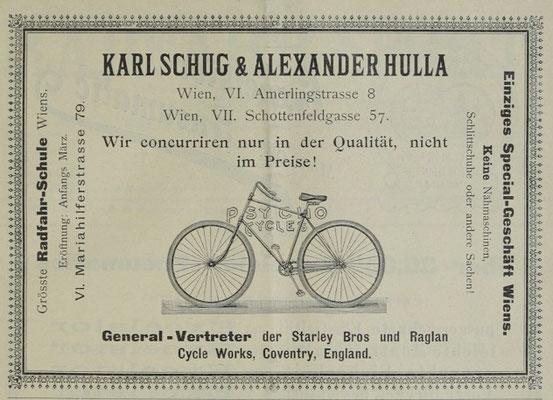 Quelle: Österr. Nationalbibliothek, Radfahr-Sport, Februar 1894
