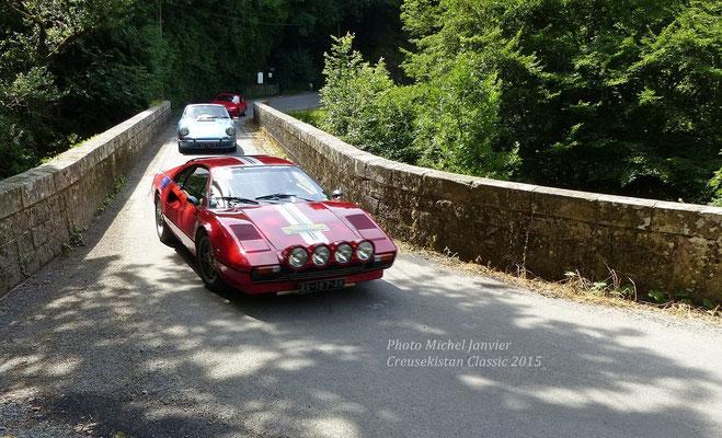 La Ferrari 308 GTB de Claude Guiot et Danièle Jabouille.