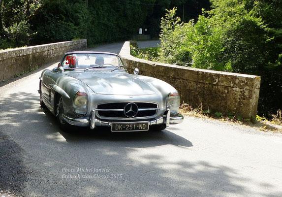 """La Mercedes 300 SL """"papillon"""" de Pierre-Alain Bonnigal et José Chaudet."""